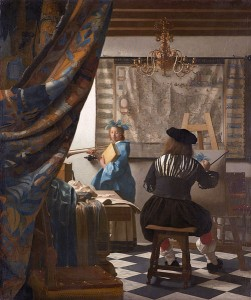 Clio appears in The Allegory of Painting -or- The Art of Painting by Jan Vermeer van Delft