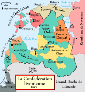 Confederation of Livonia in 1260 AD
