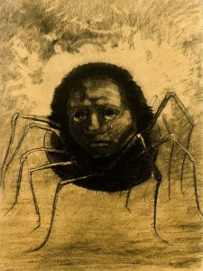 Crying Spider by Odilon Redon