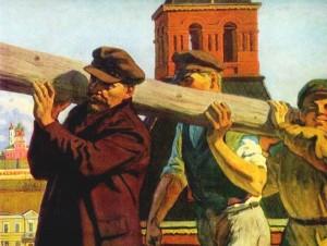 Lenin at the all-Russian subbotnik, the Kremlin, 1st May 1920