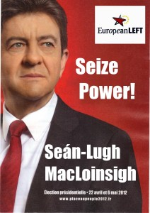 Séan-Lugh hasn't been told he's running for Europarl for Ireland yet.
