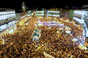 Puerta del Sol in Madrid during the 2011 Spanish protests