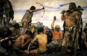 Imaginative depiction of the Stone Age, by Viktor Vasnetsov